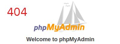phpmyadmin 404 page