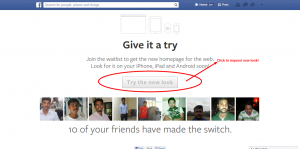 facebook new design update